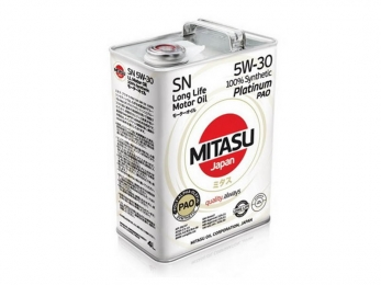 MITASU PLATINUM PAO 5W-30 SN 100% SYNTHETIC